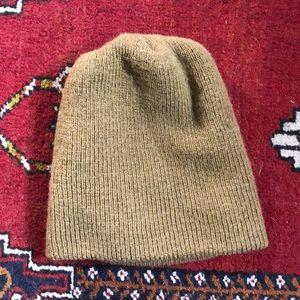 Vintage Wool Beanie Cap Camel